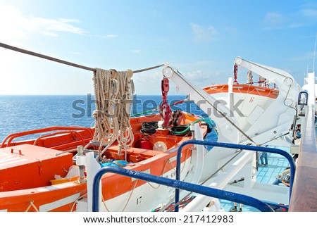 Two Lifeboat, Italy - stock photo