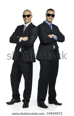 two male agents - stock photo