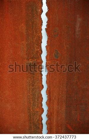 two metal plates - stock photo