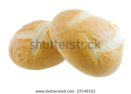 Two mini boules isolated on white - stock photo