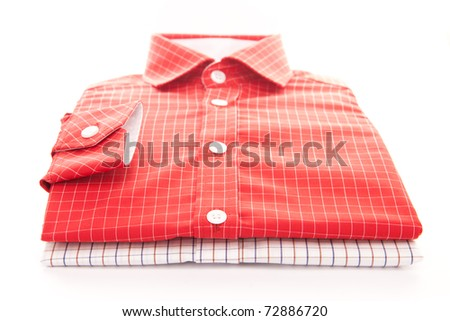 Two new men's shirts - stock photo