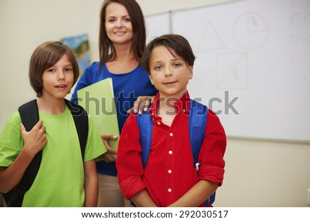 Two of my best pupils in the class - stock photo