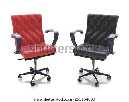 Two office chairs - stock photo
