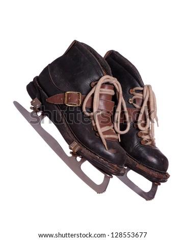 two old skates - stock photo