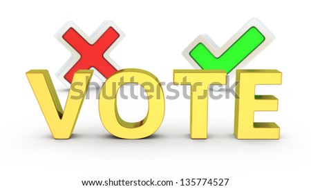 Two options of vote, choose the right way - stock photo