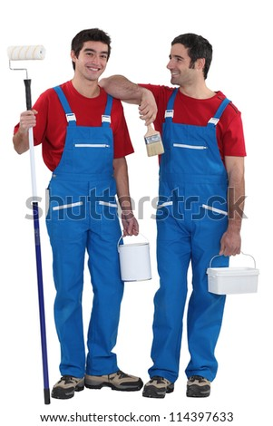 Two painters - stock photo
