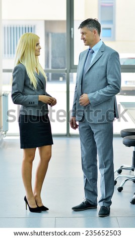 two people on a business conversation - stock photo