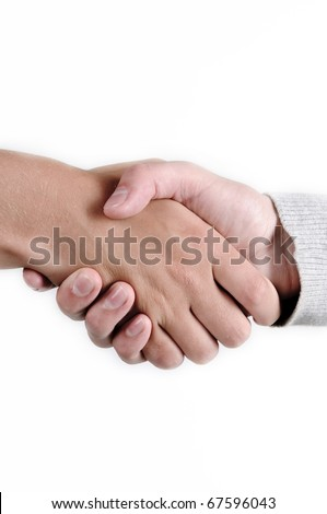 two person shaking hands - stock photo