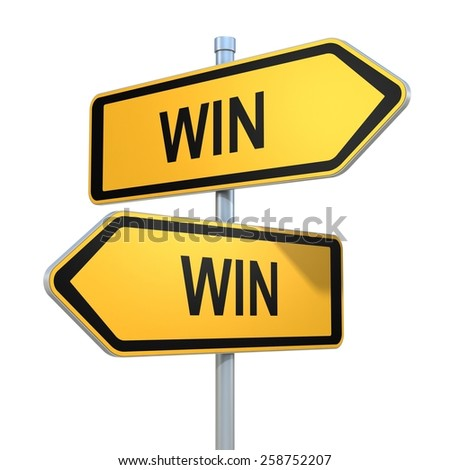 two road signs - my way or the highway choice - stock photo