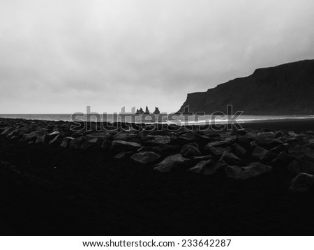 Two rocks in the sea - stock photo