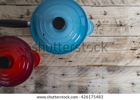 Two Saucepans - stock photo