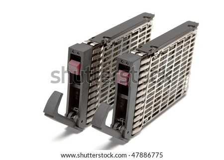 Two  server hard disk - stock photo