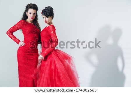 Two sexy ladies - stock photo