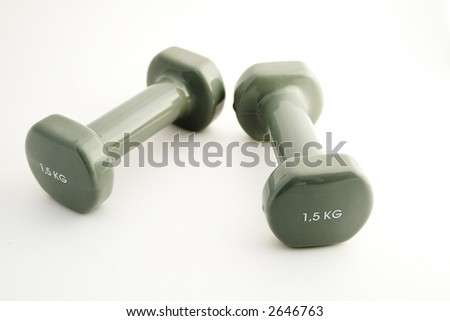 Two small female weights - stock photo