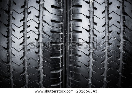 Two sport cart tires isolated - stock photo