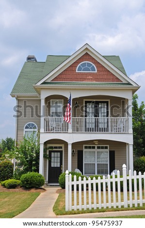 Two Story Cottage Style House - stock photo