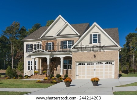 Two story house is ready for sale - stock photo