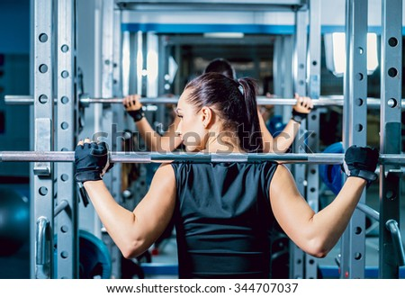 Two strong women in the gym. Fitness. Sport - stock photo