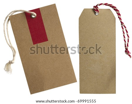 two tags - stock photo