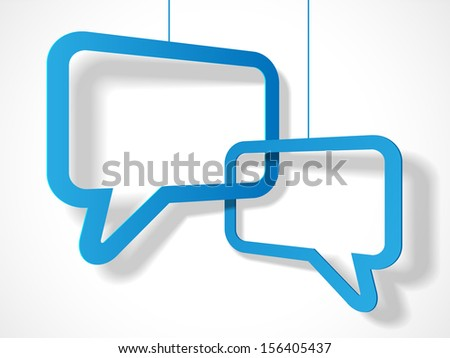 two text cloud with shadow - stock photo