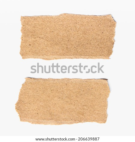 two torn paper on on white background. - stock photo