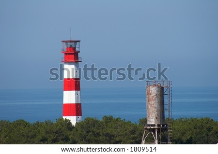 Two towers - stock photo