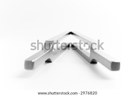 two tuning forks - stock photo