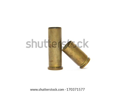 Two used  shell casings - stock photo