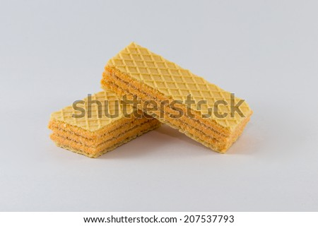 Two waffles on a background - stock photo