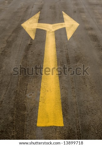 two way arrow sign - it´s your choice - stock photo