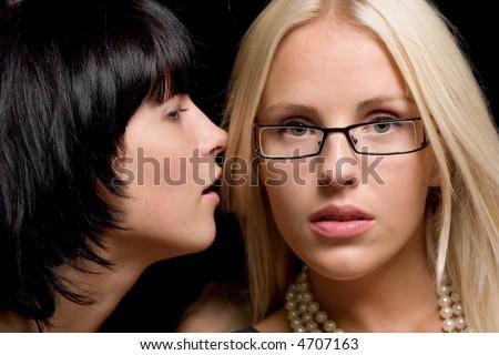 Two women Talking - stock photo