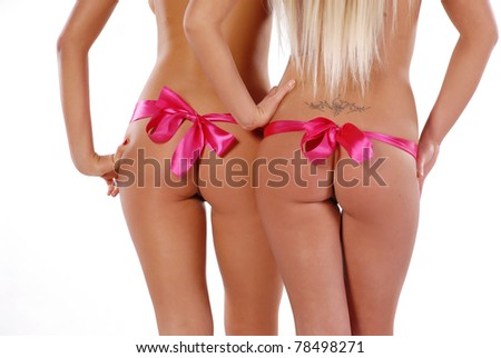 two womens body - stock photo