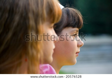 Two young girls - stock photo
