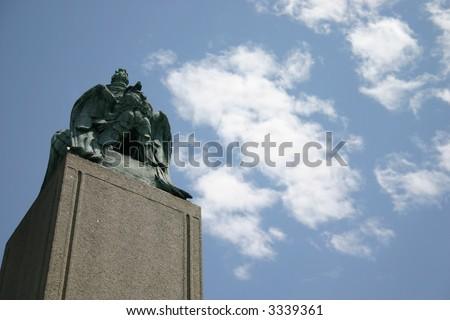 Tyler Presidental Monument - Hollywood Cemetery Richmond, VA - stock photo
