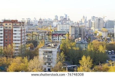 type of the city Astana - Kazakhstantype of the city Astana - Kazakhstan - stock photo