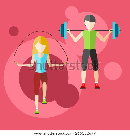 Types of activity. High, normal, low and average active. Healthy lifestyles daily routine tips stick figure in flat design style on banner. Raster version - stock photo
