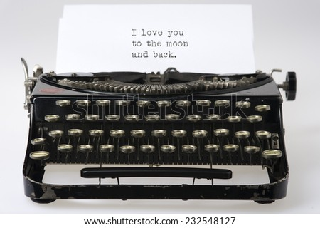 Typewriter - stock photo