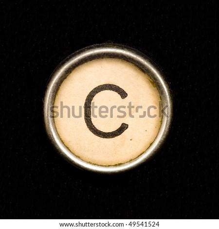Typewriter letter C - stock photo