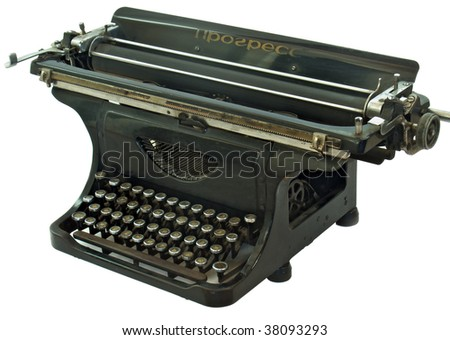 Typewriter. Mechanical Word Processor. - stock photo