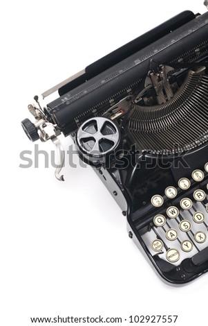 typewriter on white typing type writing write - stock photo