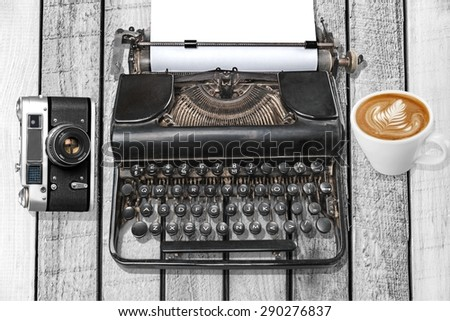 Typewriter, Retro Revival, Old. - stock photo
