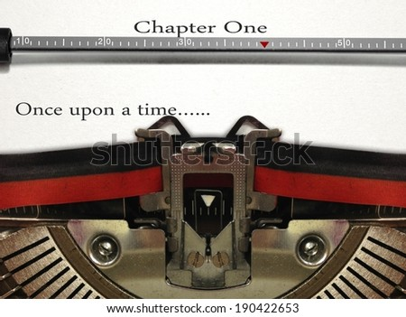 Typewriter Story Writing - stock photo