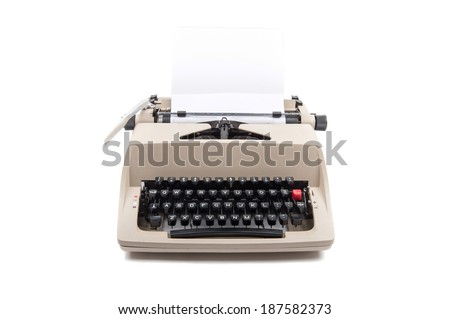 Typewriter with paper - stock photo