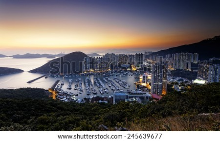 Typhoon Shelters in hong kong aberdeen - stock photo