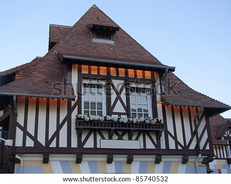 typical architecture Normandie - stock photo
