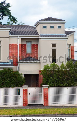 typical Australian house. Melbourne,Australia - stock photo