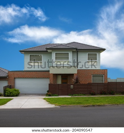 typical Australian modern house closeup - stock photo