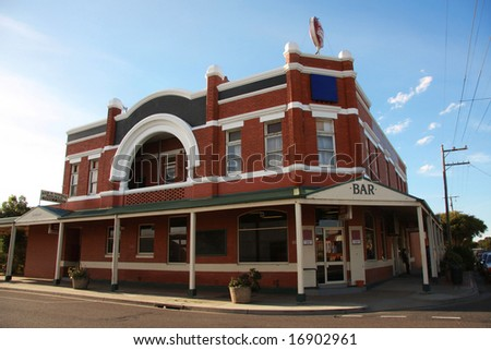 Typical Australian Pub (Public Bar) - stock photo