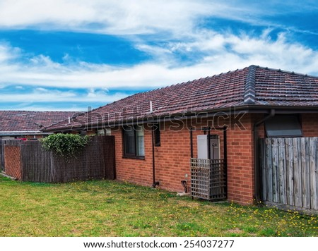 Typical Australian residential house closeup - stock photo