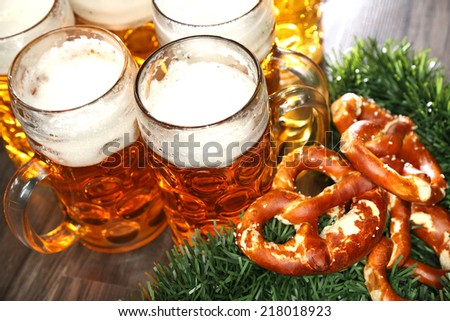 typical bavarian - stock photo